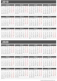 two year calender pdf templates for two year calendar 2017 and 2018 printable striking