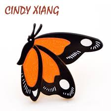 <b>CINDY XIANG</b> Acrylic Butterfly Brooches for Women Acetate Fiber ...