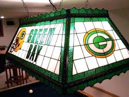 stained glass pool table lighting green bay packer rec room light kit patterns