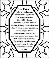 Small Picture Lords Prayer for Children Free Lords Prayer Coloring Pages