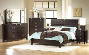 furniture bedroom black stained teak black bed with white furniture