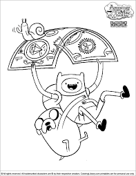 Small Picture Adventure Time Coloring Picture