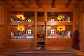 ... bunk beds for four separated by a built-in storage cabinet View ...
