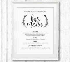 wedding drink menu. Wedding Drink Menu Template Free Template Designs and Ideas