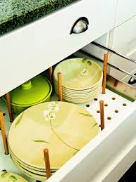 organize dish and plate storage