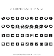 Resume Icons Classy Vector Icons Resume Stock Vector Royalty Free 60 Shutterstock