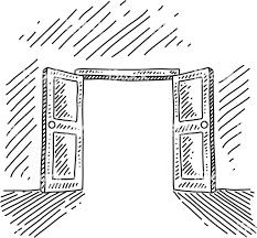 open door pencil drawing. Open Door Pencil Drawing Concept Royalty Free Avec Vector