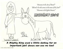 Palm Sunday Bible Lesson For Preschool Coloring Page Best And Pages