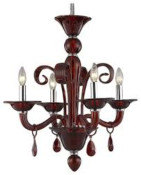 murano design 4 light 22 red chandelier with murano glass and led bulbs