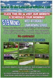 lawncare ad lawn care advertisement sample business template