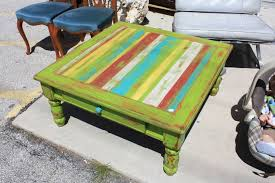 green end table low