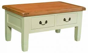 coffee tables retro white painted oak wood coffee table with varnished wooden top surface charming