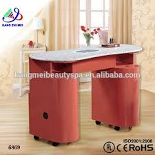 used nail table with vacuum salon nail technician tables nail salon manicure