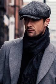 Takı Dükkanı Erkek Kasket Dökümlü Italyan Kaşmir Şapka Cp224