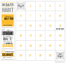 30 Day Chart Template 30 Day Printable Calendar Detoxinista