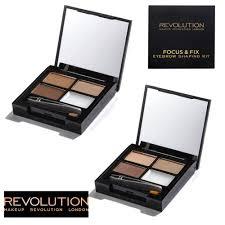 makeup revolution focus fix light um um dark eyebrow powders