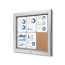 premium outdoor bulletin board lockable cork board
