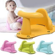 generic baby bath tub ring baby bath chair kids anti slip safety chair 4 colors seat infant child toddler yellow