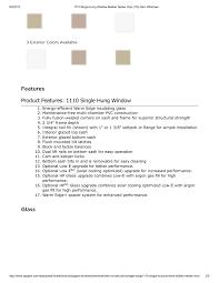 Ply Gem Window Size Chart Side Hung Casement Windows Van Acht Doors Vanacht Matrix