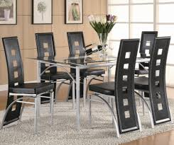 Metal Kitchen Table And Chairs Coaster Los Feliz Black Metal Dining Chair Coaster Fine Furniture