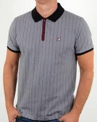 fila polo. fila vintage mk1 settanta polo shirt grey