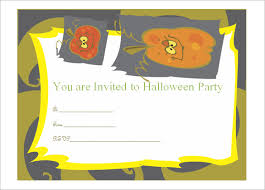 invitation  printable word pdf psd publisher  halloween party invitation word doc