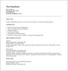 Example Of A Work Resume Formidable Resume Profile Examples Social ...