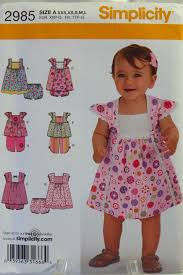 Free Printable Smocking Designs For Baby Dresses Simplicity 2985 Babies Dress In Two Lengths Top Copped