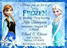 Luxury Frozen Birthday Invitation Template For Party