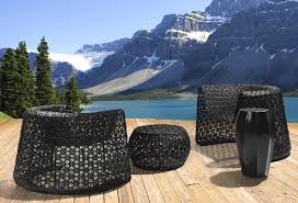 stylish outdoor furniture by seasonal living black lace collection black garden furniture