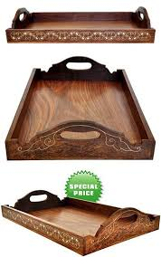Decorative Serving Trays With Handles Today's Deals 100% Guarantee Wooden Trays with Handles Decorative 70