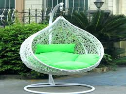 outdoor swing chair stand hanging wicker patio with and pillow bedroom awesome indoor