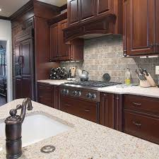 Travertine Floors In Kitchen Jeffrey Court Travertine Noce 6 In X 3 In Travertine Wall And