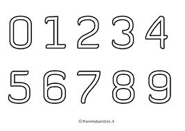 Numeri Da Stampare Formato A4 Stampae Colorare