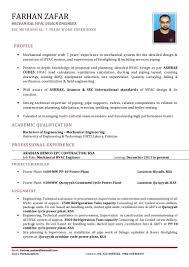 Hvac Project Engineer Resumes Mechanical Engineer Resume Sample