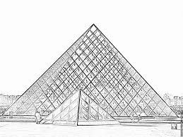 Coloriage Pyramide Du Louvrel