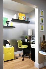 cool home office spaces. Home Office Design Ideas For Small Spaces With Chair And Floating Shelves Cool