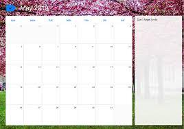 May 2019 Printable Calendar Any Do