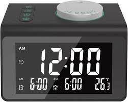 FM radyo ile LED ayna çalar saat Subwoofer müzik çalar erteleme masaüstü  2usb şarj cihazı Radio