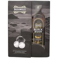 bushmills black bush irish whiskey gift set 750ml