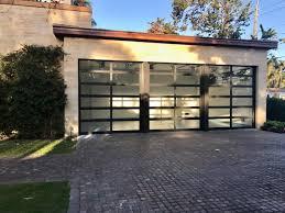 hurricane impact glass garage doors in south florida