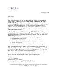 Cover Letter Sponsorship Hessco Sponsorship Letter