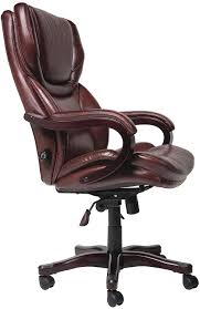 serta at home executive big and tall office chair eco friendly bonded leather brown 43506 ca home kitchen