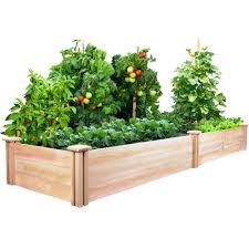 greenes fence 2 ft x 8 ft x 10 5 in cedar raised garden bed rc24966t the home depot