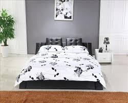 Modern Design For Bedroom Mybestfurn King Size Bed Top Grain Leather Headrest Soft Bed
