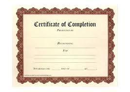 best photos of completion certificates templates blank completion certificates templates