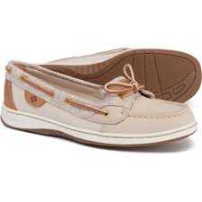 sperry angelfish confetti boat shoes leather for women in oat