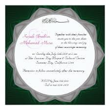 islam wedding invitations & announcements zazzle canada Muslim Wedding Cards Toronto green and white muslim wedding card muslim wedding invitations toronto
