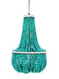 turquoise beaded chandelier wood bead small for design 6