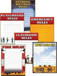 School Safety Rules Cheap Chart Six Pack School Specialty